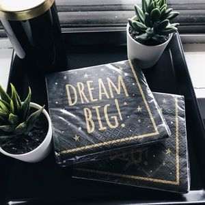 DREAM BIG! Graduation/Celebration Paper Napkins x2